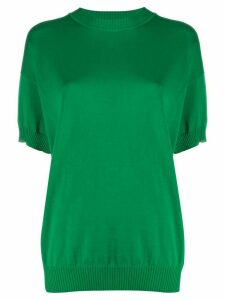 Plan C oversized short-sleeve jumper - Green