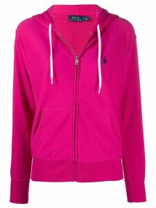 Polo Ralph Lauren embroidered logo zip-up hoodie - PINK