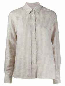 Eleventy striped linen shirt - NEUTRALS
