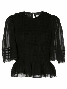 Isabel Marant Étoile Janette sheer sleeved T-shirt - Black