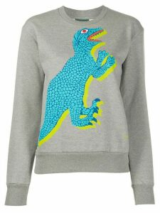 PS Paul Smith Dino-print cotton sweatshirt - Grey
