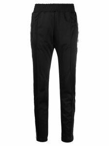 Chiara Ferragni logomania stripe track trousers - Black