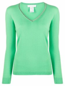 Fabiana Filippi cashmere embellished collar jumper - Green