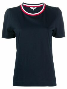 Tommy Hilfiger stripe collar T-shirt - Blue