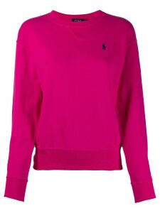 Polo Ralph Lauren oversized logo-embroidery sweatshirt - PINK