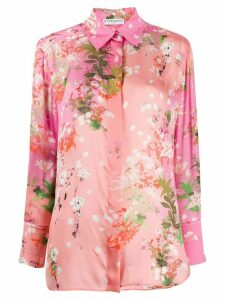 Givenchy floral print long-sleeved shirt - PINK