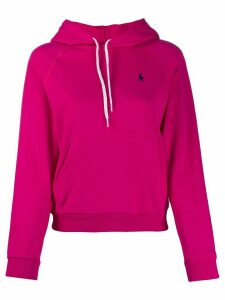 Ralph Lauren embroidered logo relaxed-fit hoodie - PINK