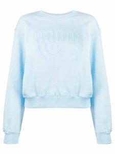 Chiara Ferragni tonal logo crew neck sweatshirt - Blue