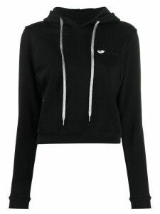 Chiara Ferragni flirting cropped hoodie - Black