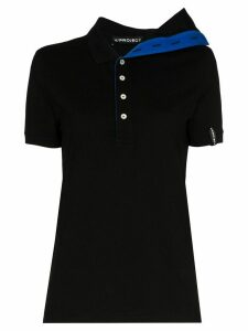 Y/Project asymmetric cotton polo shirt - Black