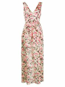 Pinko micro pleat maxi dress