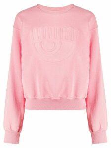 Chiara Ferragni logo crew neck sweatshirt - PINK