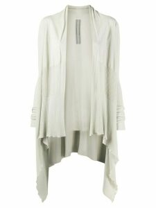 Rick Owens asymmetric-hem cotton cardigan - NEUTRALS