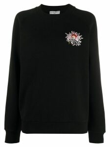 Givenchy floral embroidery sweatshirt - Black