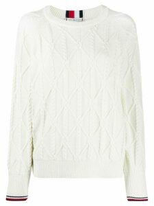 Tommy Hilfiger diamond knit jumper - White