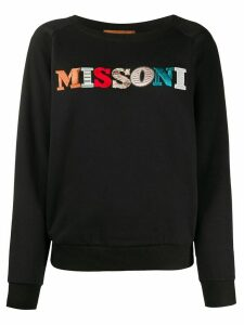 Missoni embroidered logo sweatshirt - Black