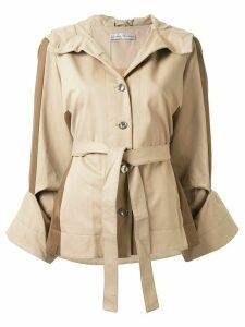Palmer / Harding cropped hooded jacket - Brown