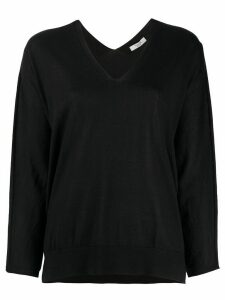 Peserico V-neck loose-fit jumper - Black