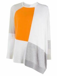 Fabiana Filippi cashmere colour blocked jumper - White