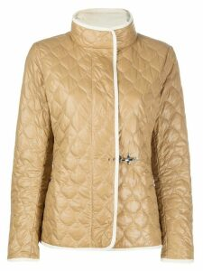 Fay long sleeve quilted pattern jacket - Brown