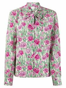 Giambattista Valli silk floral print blouse - PINK