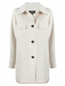 Arma single breasted shirt coat - NEUTRALS