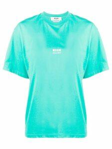 MSGM Futuro! print T-shirt - Blue