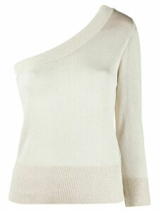 Federica Tosi one shoulder glitter jumper - NEUTRALS