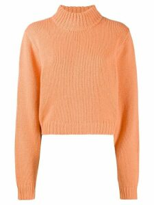 The Row roll-neck cashmere jumper - ORANGE