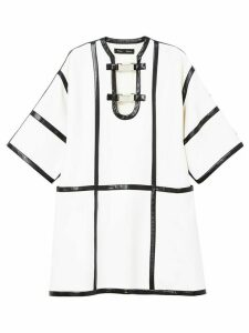 Proenza Schouler leather trimmed dress - White