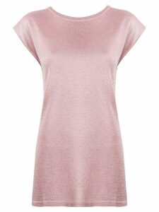 Missoni cap sleeve T-shirt - PINK