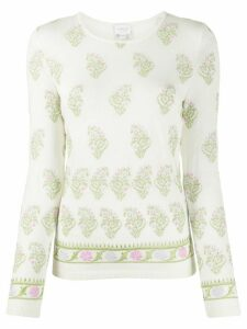 Giambattista Valli knitted floral embroidered jumper - NEUTRALS