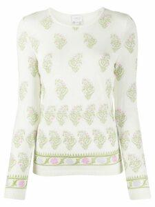 Giambattista Valli knitted floral embroidered jumper - NEUTRALS