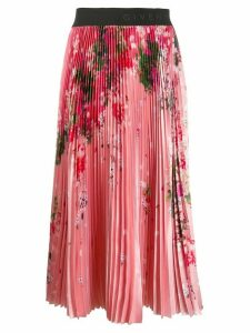 Givenchy floral print pleated skirt - PINK