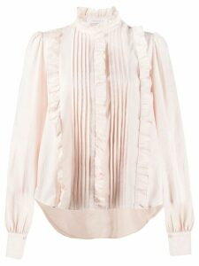 See by Chloé pleated ruffle trim blouse - PINK