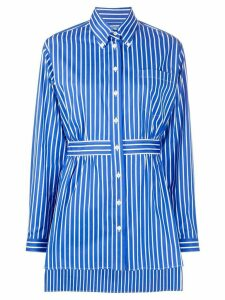 Prada striped belted shirt - Blue
