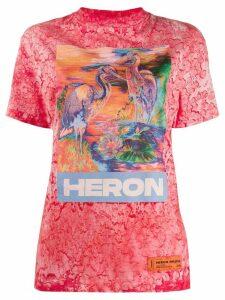 Heron Preston Heron-print T-shirt - PINK