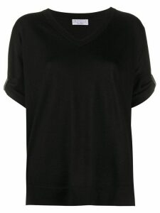 Brunello Cucinelli rhinestone-embellished loose-fit T-shirt - Black