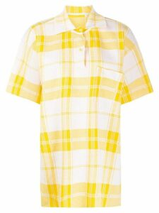 Jacquemus Torchon checkered polo shirt - Yellow