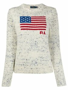 Polo Ralph Lauren flag-intarsia sweater - White