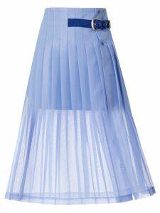 Toga pleated belt skirt - PURPLE