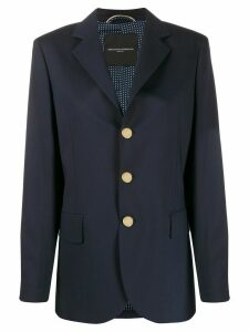 Ermanno Scervino longline single breasted blazer - Blue
