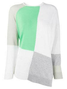Fabiana Filippi cashmere colour blocked jumper - White