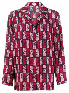 Kenzo mermaid-print shirt - Red