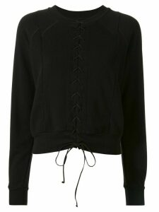 Unravel Project front lace-up sweatshirt - Black