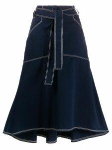 Odeeh A-line shape midi skirt - Blue