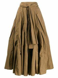 Odeeh crinkled full shape skirt - NEUTRALS