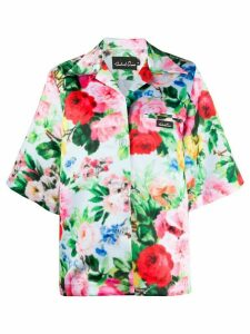 Richard Quinn short sleeve floral print shirt - Blue