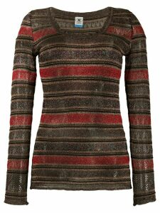 M Missoni metallic chevron-knit top - Black