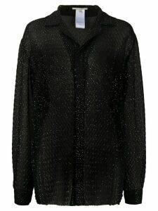 Marco De Vincenzo glitter dot print blouse - Black